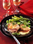 Italian-style veal fillet (with mozzarella and pancetta)