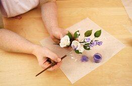 Painting sugar roses