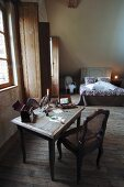 Rustic bedroom in country house hotel