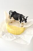 Farmhouse butter with toy cow