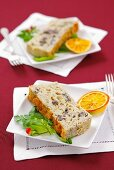 Mushroom terrine for Christmas