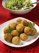 Deep-fried potato balls as a side dish (for Christmas)