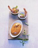 Cocktail sauce with prawns