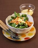 Corn salad with lentils and carrots