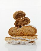 Gingerbread stollen and apple bread