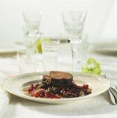 Venison steaks in stout marinade