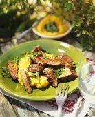 Beef fillet with polenta