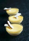 Coconut cream gratin