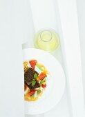 Gilthead seabream with curry and cane sugar glaze