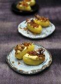 Potatoes with calamaretti and garlic mayonnaise
