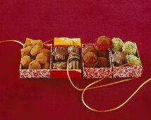 Truffle balls and chocolate stars