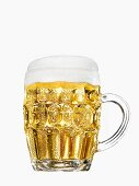 Cold Mug of Beer on White Background