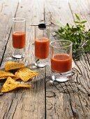 Gazpacho in three glasses