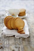 Biscuits with liquorice powder