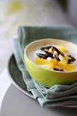 Yogurt with dried fruit and agave syrup (detox diet)