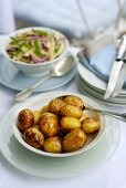 Fried new potatoes