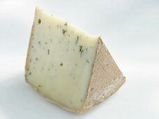 A piece of chive cheese