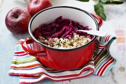 Red cabbage and apple salad