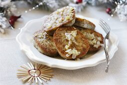Christmas wheat cakes with onions from Poland