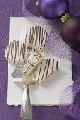 White nougat with chocolate (Christmas)