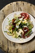Bresaola ai funghi (Bresaola with ceps and rocket)