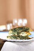 Frittata con le bietole (Omelette with chard & Robiola cheese)
