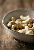 Cashew nuts in a ceramic bowl