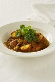 Spiny lobster curry with coriander