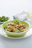 Asian rice noodles with vegetables