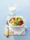 Fruit salad with muesli