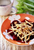 Beetroot and celeriac salad with nuts