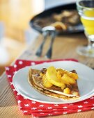Wholemeal pancake with orange compote