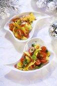 Fruity cherry tomato salad (Christmas)