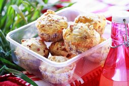 Ham and cheese muffins for a picnic