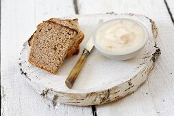 Wholemeal bread with pork dripping