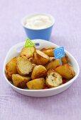 Roast potatoes with chilli