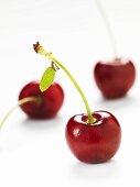 Three cherries (close-up)