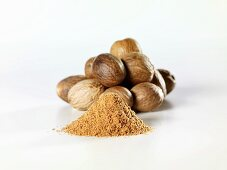Nutmegs and ground nutmeg