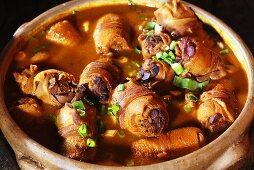 Buchada de bode (Roulades made with mutton offal, Brazil)