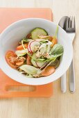 Healthy raw vegetable salad