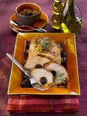 Roast pork stuffed with prunes