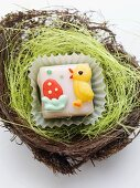 Petit four in an Easter nest