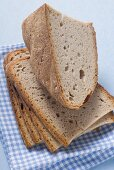 Mixed wheat and rye bread, partly sliced
