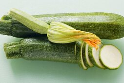 Courgettes with courgette flower