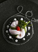 Poached monkfish