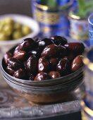 Small bowl of Kalamata olives
