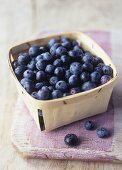 Blueberries in a punnet