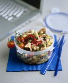 Cannellini beans with dried tomatoes and tuna