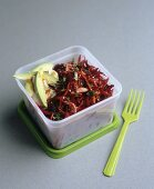 Beetroot salad with avocado