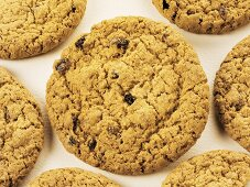 Oat biscuits with raisins